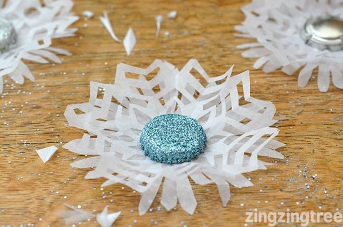 How To Make Stunning Bottle Top Snowflake Decorations