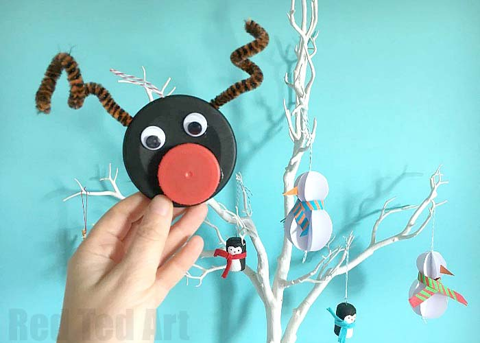 Bottle top Rudolph ornament