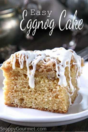 Easy Egg nog cake