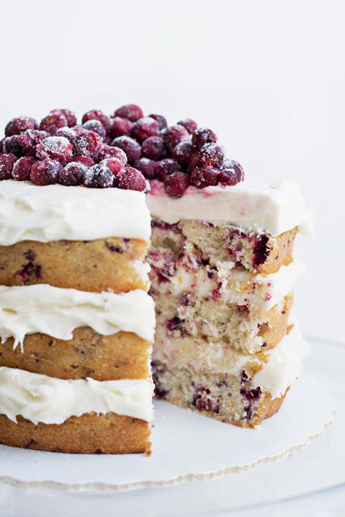 Cranberry and Orange Layer cake