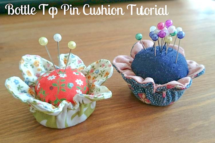 Bottle top pin cushion