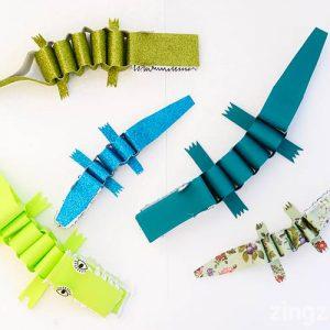 Paper crocodile craft
