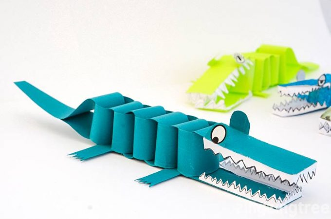 Paper Crocodile Craft – A Bask Of Crocodiles