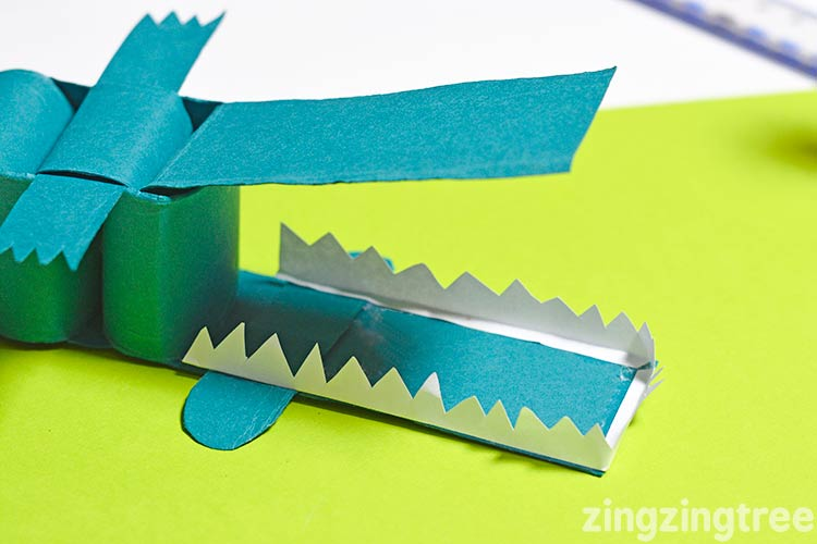 how to make a paper crocodile