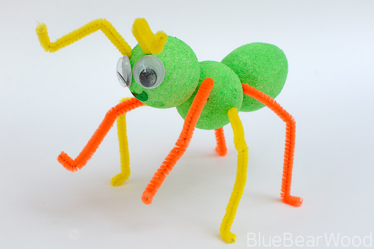 Fluorescent Green Ant Craft