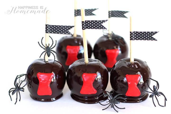 Black Widow Spider Candy Apple