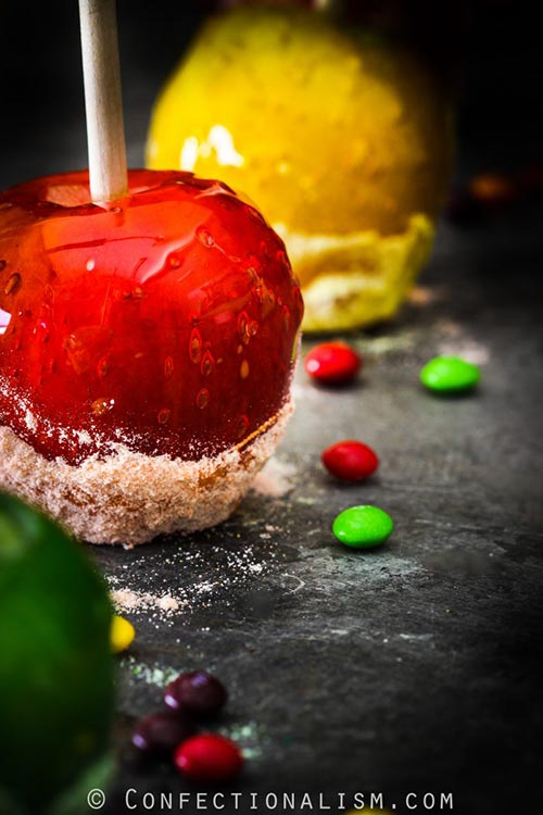Skittles Candy Apples