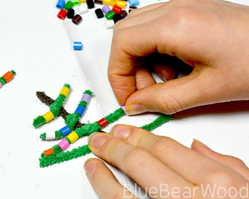 Making A Perler Bead Christmas Tree Craft