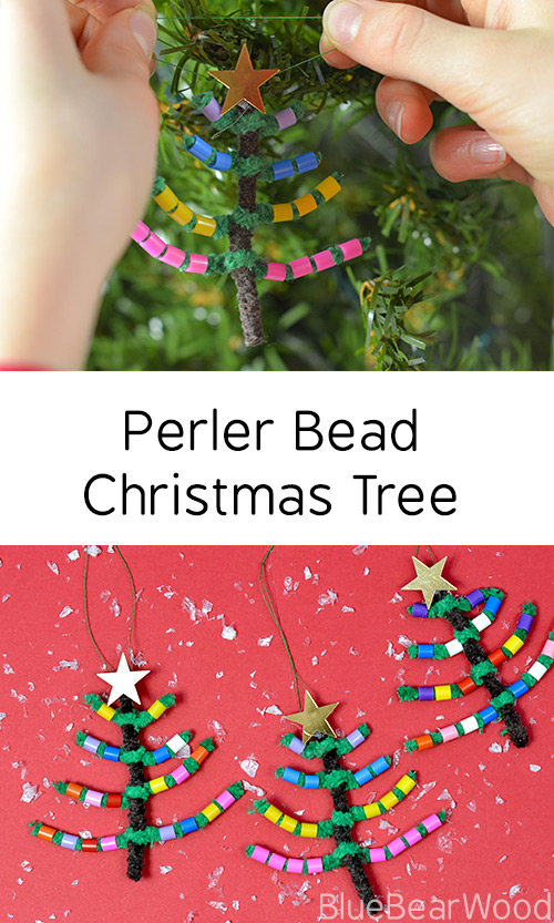 Use Left Over Perler/Hama Beads To Make This Cute Christmas Tree Craft