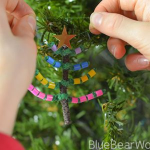 Peeler Bead Christmas Tree Decoration