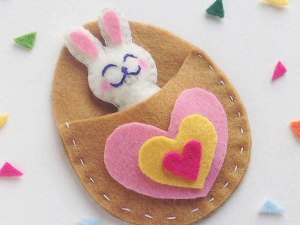 This Super Cute Felt Bunny Craft Is A Perfect Pocket Pal