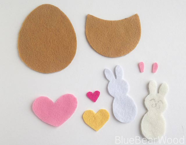 Felt Rabbit Craft Cut Outs