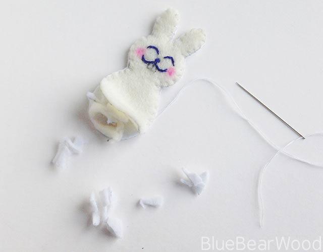 Stuffing A Felt Rabbit