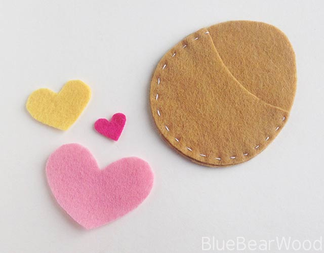 Adding Felt Hearts To The Egg Bed