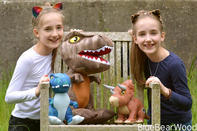 T-Rex Blue Raptor And Triceratops Soft Toys
