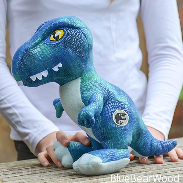 Jurassic World Fallen Kingdom Posh Paws Blue Raptor Soft Toy