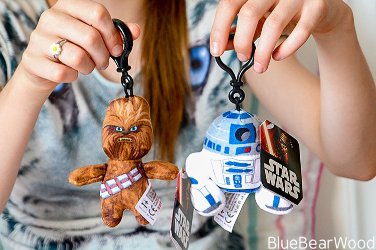 Star Wars Chewbacca and R2D2 Bag Clips