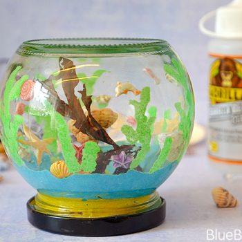 Gorilla Glue Glass Jar Sea Aquarium Craft