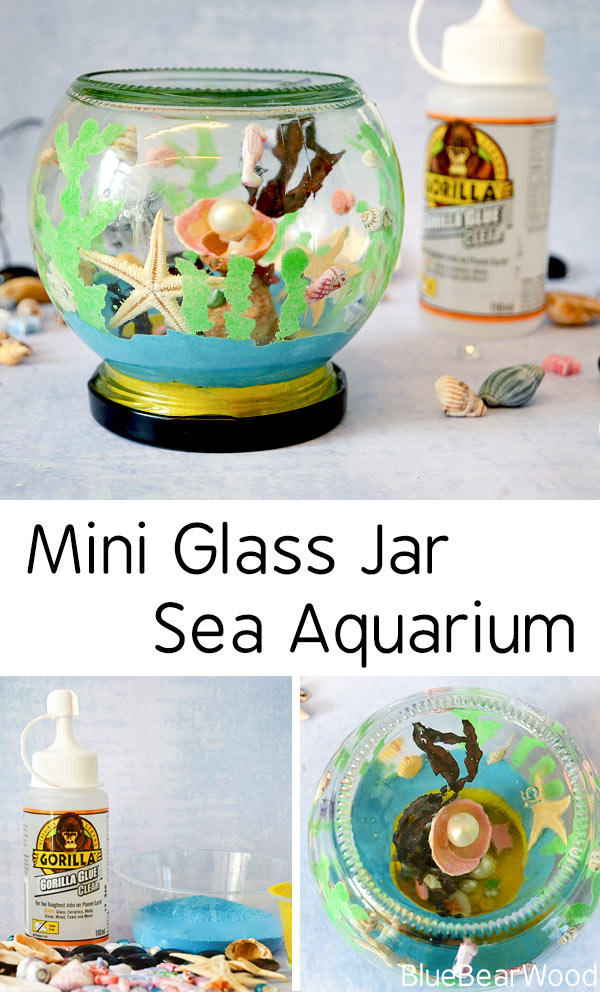 Mini Glass Jar Aquarium Craft