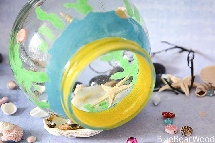 Glass Jar Sea Aquarium Craft