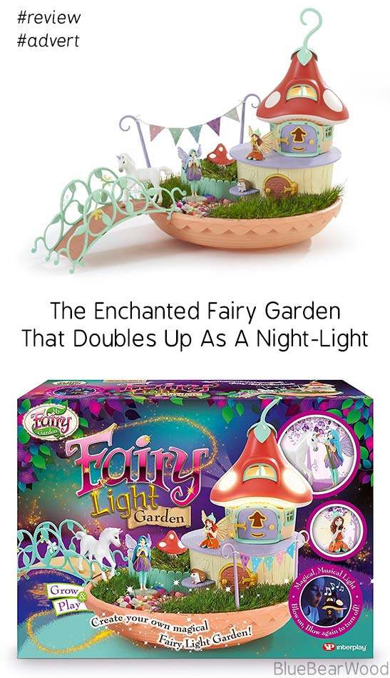 Bring Nature indoors with this super sweet Fairy Light Garden that also acts as a night light