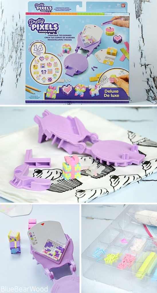 How To Use The Bandai Pretty Pixels Eraser Maker Craft Kit