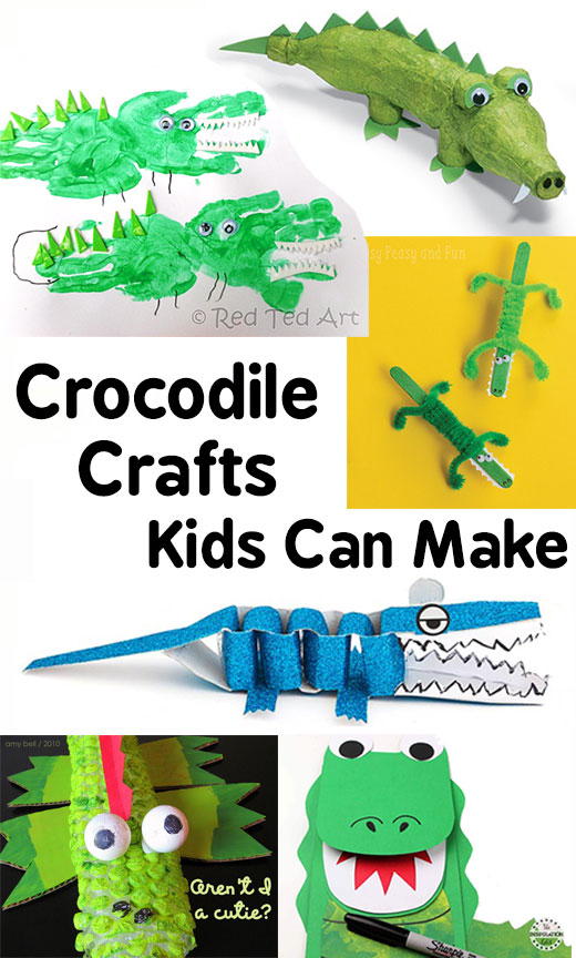 Crocodile Crafts Kids Can Make