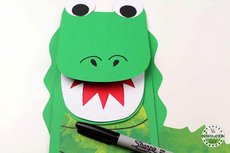 Paper Bag Crocodile Craft