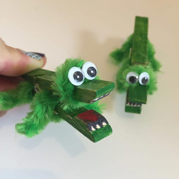 Clothes Peg Crocodile Craft