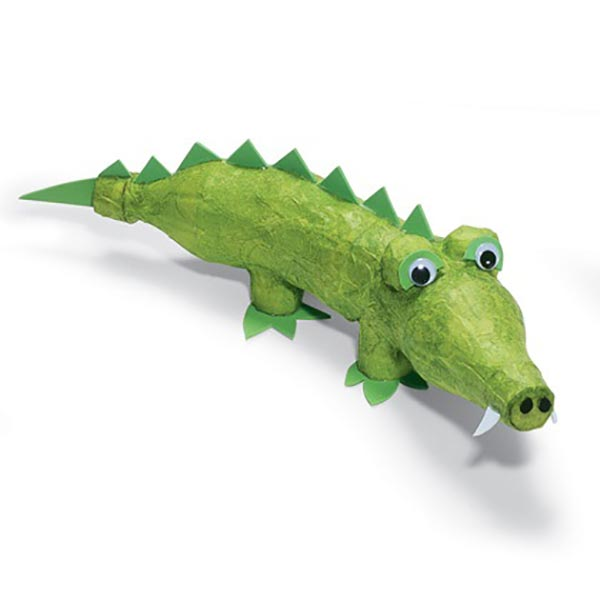 Plastic Bottle Crocodile Craft