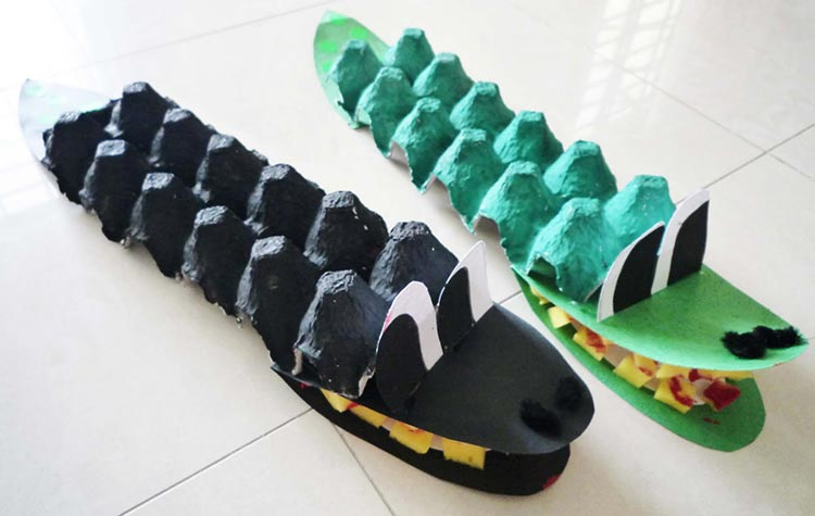 Egg Box Crocodile Craft
