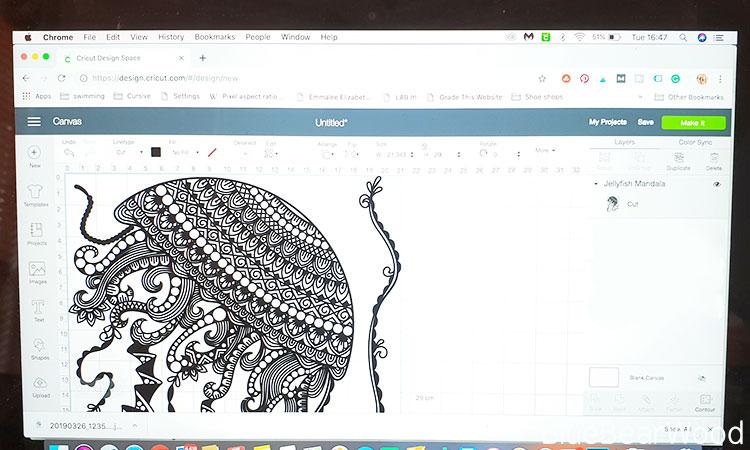 Jelly Fish Mandala Design in Cricut Design Space