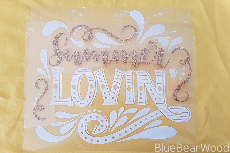 Summer Lovin T-shirt with less glitter