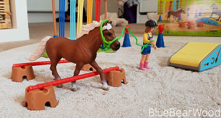 Pony from The Schleich Pony Agility Training Set