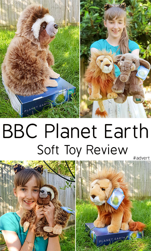 BBC Planet Earth Soft Toy Review -  Sloth Elephant Lion