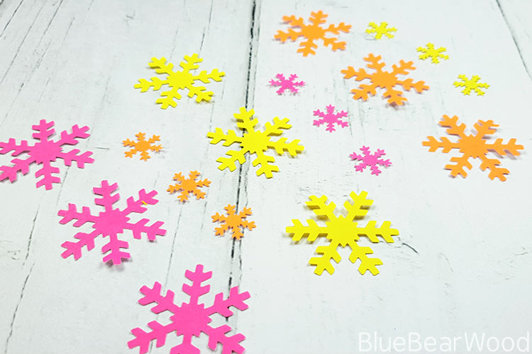 Tropical Coloured Paper SNowflakes