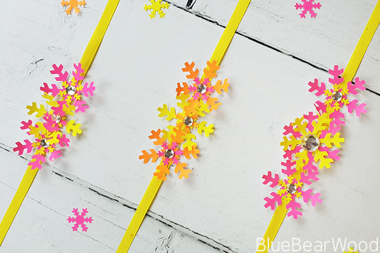 Tropical Paper Snowflake Bracelets