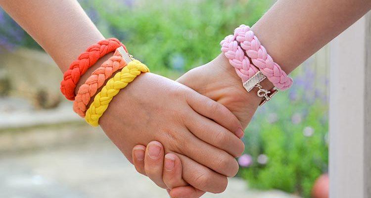 T-shirt Yarn Bracelets