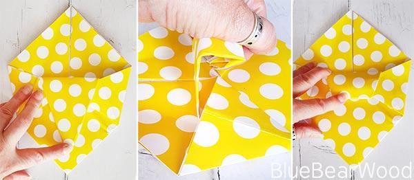 Origami Pen Pot Folding