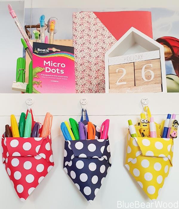 DIY Origami Pen Pots