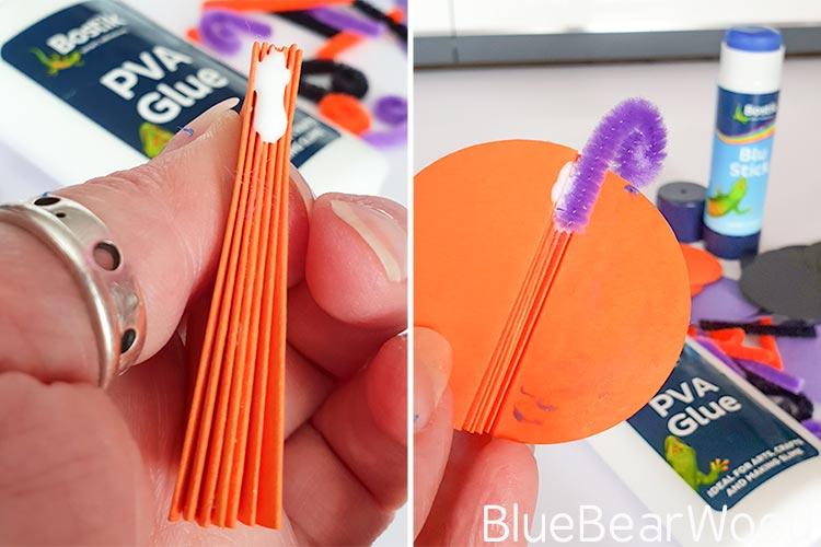 Adding Stalk To Paper Pumpkin