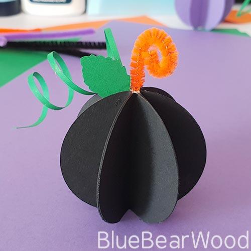 Black Paper Pumpkin
