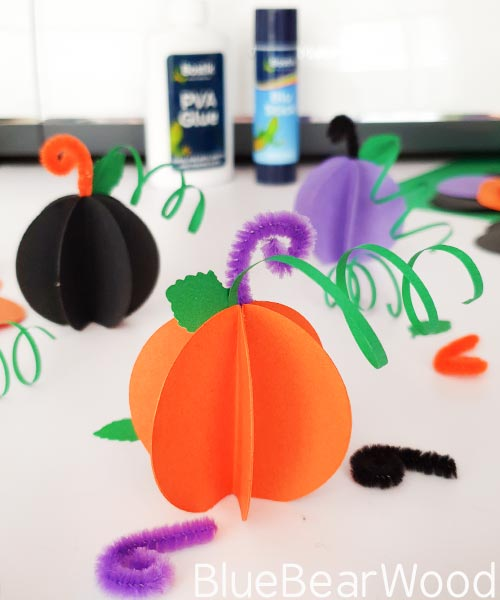 Orange Paper Pumpkin