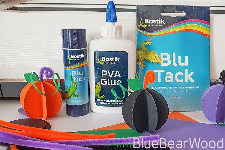 Paper Pumpkin Craft Materials Required Bostik BlueStick, PVA Glue And Blu Tack, card, pipecleaners