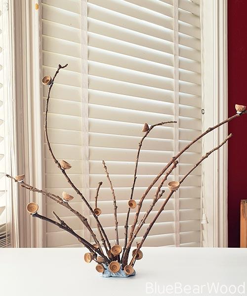 Acorn And Twig Sculpture Craft