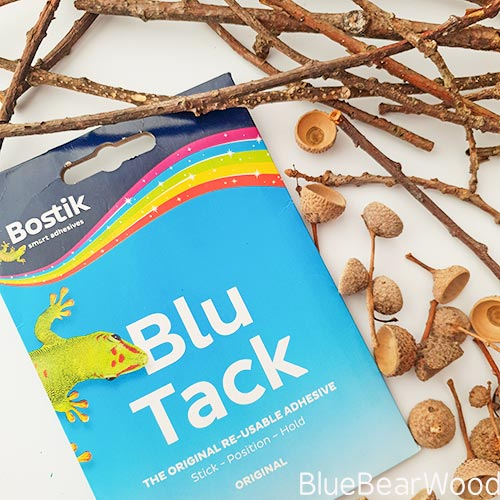 Blu Tack Acorn Shells And Twigs For Crafting With