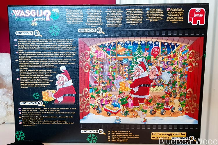Back Of Wasgij Christmas Puzzle 15