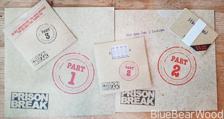 Escape Room Prison Break Game Contents
