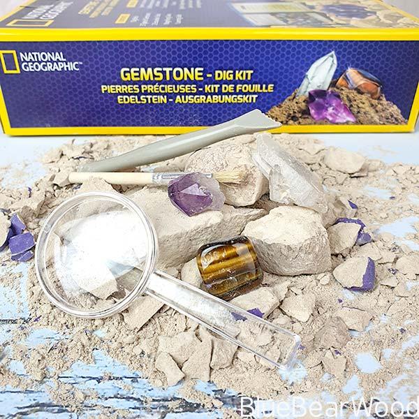 Gemstones From The Gemstone Dig Kit