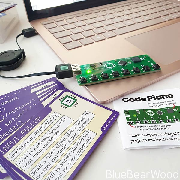 Lets Get Coding Code Piano Kit Contents
